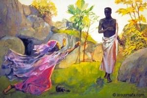 Mary Magdalene on Easter, Jesus Mafa