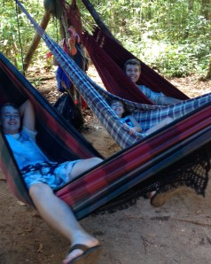 Hammocks in the Amazon
