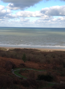 Looking down at Omaha Beach from American Cemetery