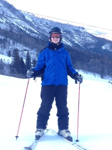 Jonathan on ski slopes
