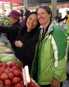 My wife, Lisa, with our Beijing host, Holly